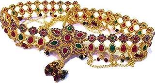 XLDreams White Copper American Diamond and Pearl Waist Chain for Women