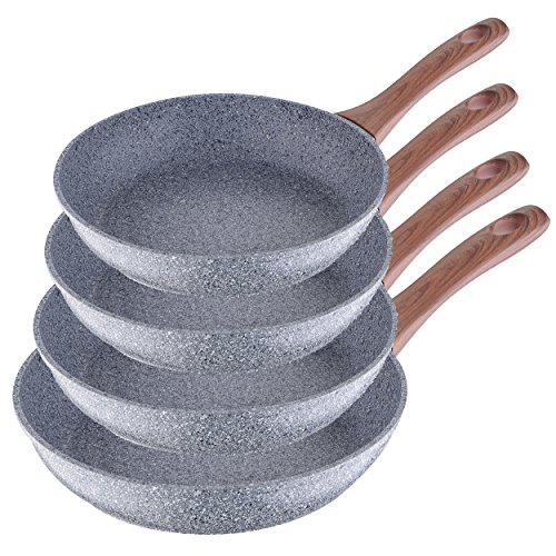 San Ignacio - Set de 4 sartenes de granito apto para todo tipo de cocinas incluido inducción