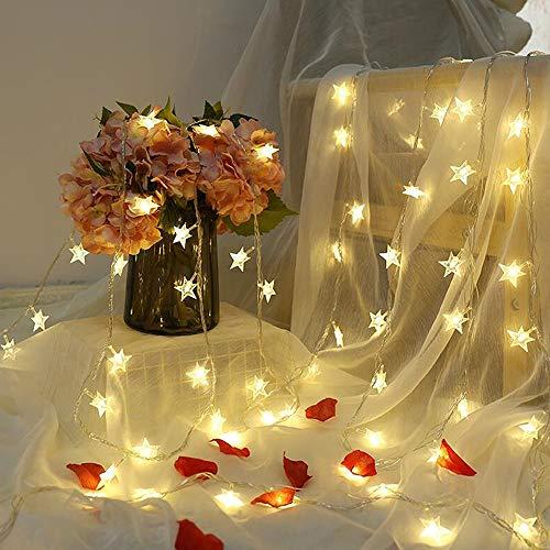 Luces de cadena de estrellas luces LED de cuento de hadas fiesta de Navidad boda decoración familiar luces de cadena usb 3m30 leds