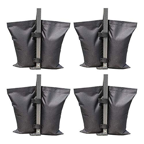 Tokenhigh Grade Heavy Duty Double-Stitched Weights Bag,Sand Bags for Instant Outdoor Sun Shelter Canopy Legs,Leg Weights for Pop up Canopy Tent outdoor Weighted Feet Bag Sand Bag Black 4pcs