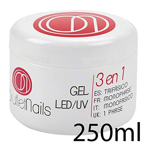 Gel Trifasico UV/LED 250ml Uñas OUTLET NAILS, transparente