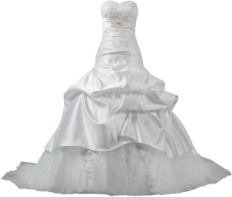 ANTS Women's Off Shoulder Tulle Lace Taffeta Wedding Dress Ball Gown