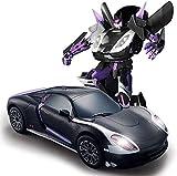 Gesto de detección Deformación del robot, 01:12 coche teledirigido robot de carreras de coches, el gesto y coche teledirigido un botón y sonido de la música con el LED enciende Vehículos for niños y r