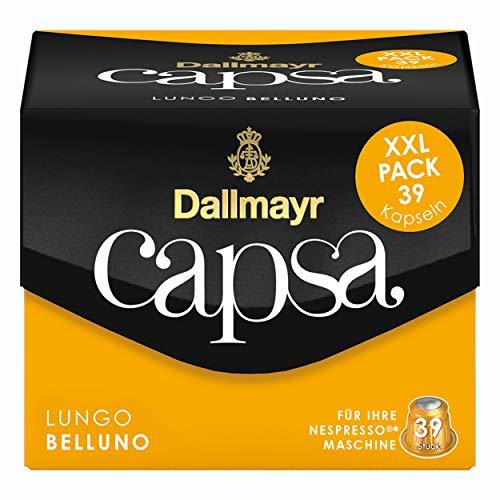 Dallmayr Capsa Lungo Belluno XXL, Nespresso Kompatibel Kapsel, Röstkaffee, Kaffee, 195 Kapseln á 5.6 g