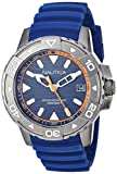 Nautica Men's Edgewater NAPEGT003 Blue Silicone Japanese Quartz Sport Watch