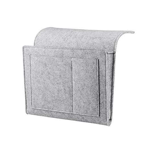 Willlly nachtkastje Caddy vilt nachtkastje opbergbox met extra tas voor slaap kamer slaapzaal kamer stapelbed of hoge bedden bank licht grijs verkoop huis dagelijks gebruik product