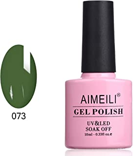 AIMEILI Soak Off UV LED Gel Nail Polish - Kale (073) 10ml