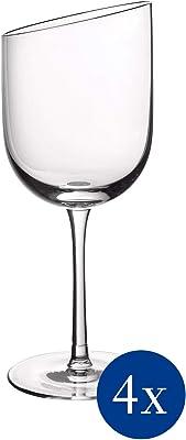 Villeroy & Boch 11-3653-8110 New Moon Set, 4 Pieces, Elegant, Modern Red Wine Day Use, Crystal Glass, Transparent, Dishwasher Safe