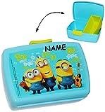 alles-meine.de GmbH Lunchbox / Brotdose -  Minions - Ich einfach unverbesserlich  incl. Namen + mit extra Einsatz / herausnehmbaren Fach - Brotbüchse Küche Essen - für Mädchen ..
