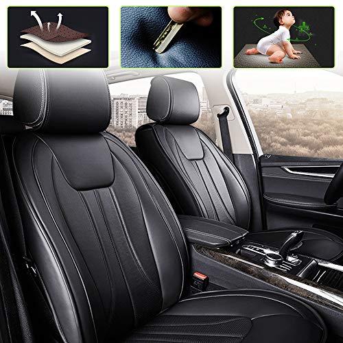 8X-SPEED Set Coprisedili per su baru Range Rover Evoque Discovery Sport Freelander Set Completo di 5-Posti Protezioni per sedili Pelle Universale Nero