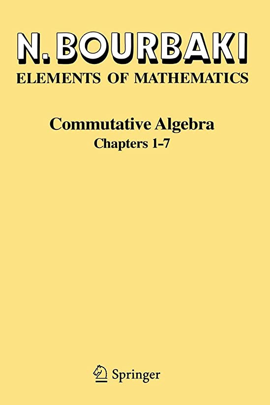 動脈認知反応するCommutative Algebra: Chapters 1-7
