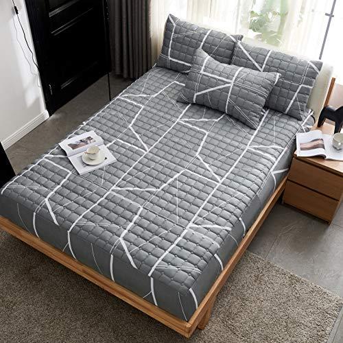 N/ A 1pc 180cmX200cmX30cm labypatroon gewatteerde matrasbeschermer pad hoeslakens met elastiek