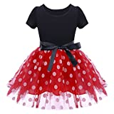 Baby Girls Polka Dots Tulle Spliced Ballet Dress with Bowknot Headband Birthday...