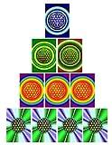 atalantes spirit Blume des Lebens Postkarte - Energiebild - 10 Stück - Set spirituelle Blanko Karten - verschiedene Motive sortiert