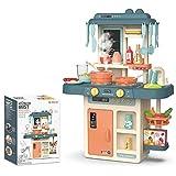 InChengGouFouX Frühkindliche Küche Spielzeug Pretend Toy Kochgeschirr for große Kinderküche Kochrollenspiele Kindergarten und Kindergarten Küche Spielzeug (Color : Green, Size : 63x45.5x22cm)