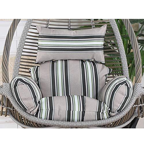 Hangende stoel Hangende stoel stoel stoel stoel kussen, comfortabele ademende individuele hangstoel kussen voor opknoping mand rieten stoel rug kussen Romig-wit