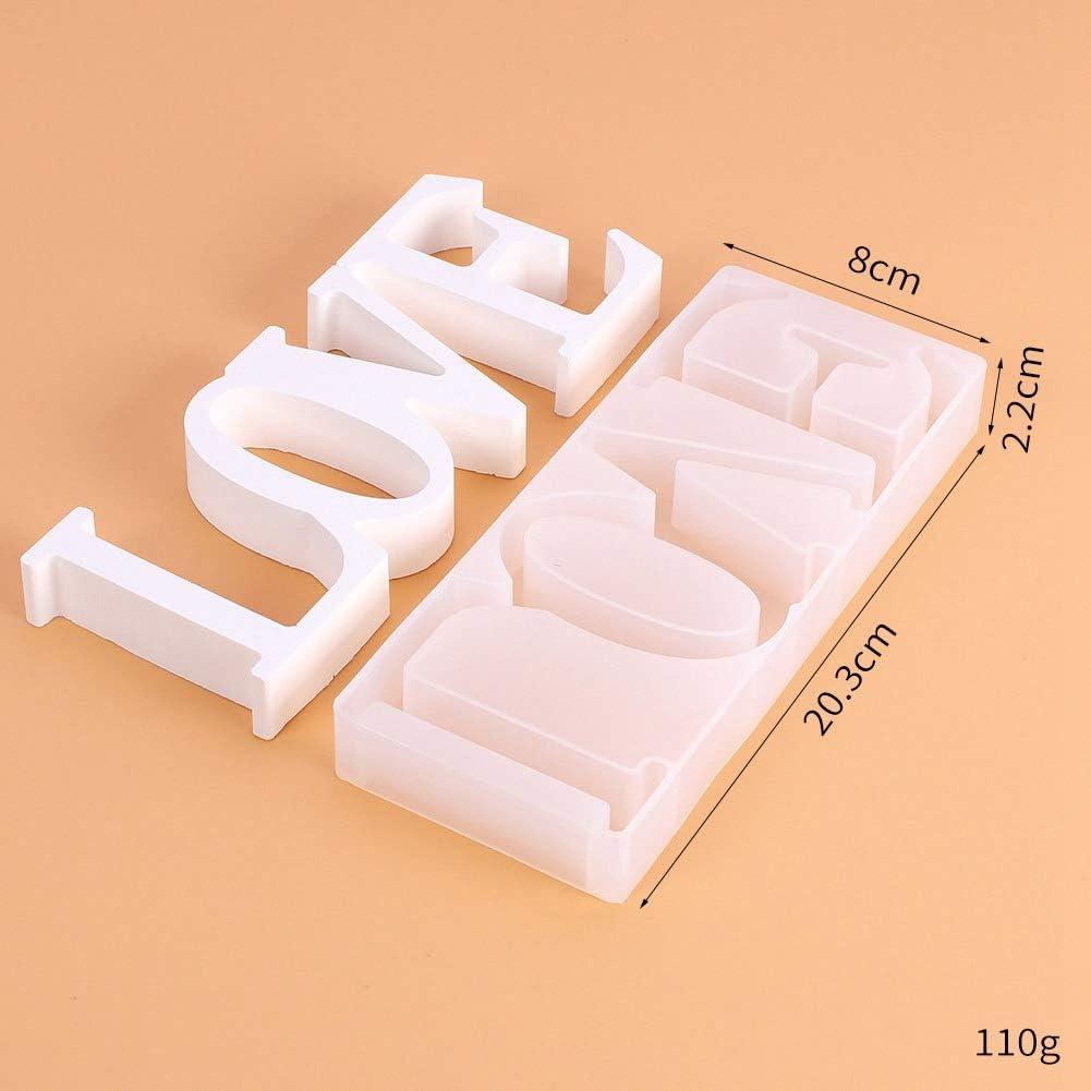n. 2 caramelle fondenti GerFogoo Stampo in resina 3D Love in resina per creare gioielli fai da te in silicone per cioccolatini saponi candele fai da te