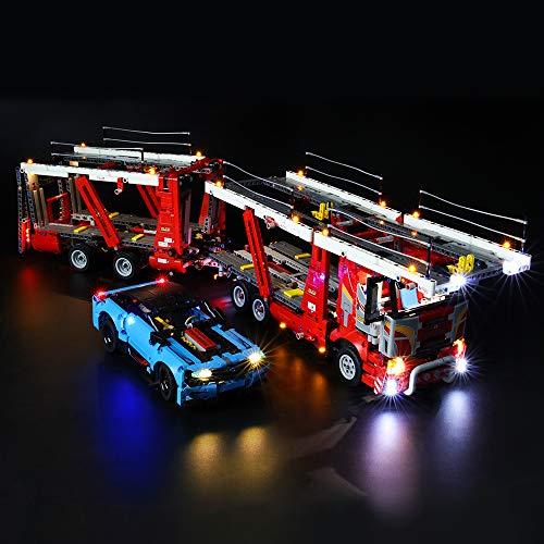 BRIKSMAX Led Beleuchtungsset für Lego Technic Autotransporter,Kompatibel Mit Lego 42098 Bausteinen Modell - Ohne Lego Set