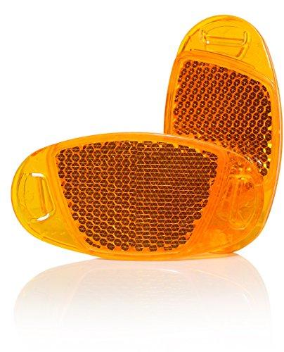 Kellago 4X Starkreflektierende Speichen-Reflektor in Orange Katzenaugen-Reflektoren/Fahrrad-Speichen-Reflektoren/Stvzo zugelassen [ mit starker Reflektionsfunktion für hohe Sicherheit! ]