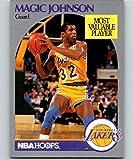 1990-91 NBA Hoops #157 Magic Johnson Los Angeles Lakers Official Basketball Trading Card