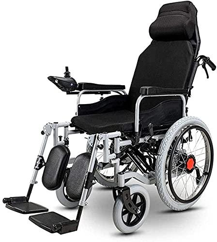 Silla de ruedas eléctrica con reposacabezas liviano plegable manual eléctrico elegante scootle de ruedas eléctricas para los discapacitados para los ancianos