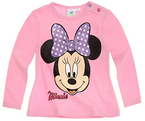 Tee shirt manches longues bébé fille Minnie Rose de 3 à 24mois (12mois)