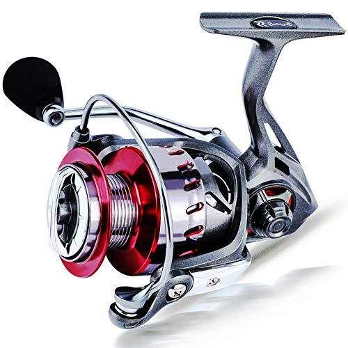 Reel 9 + 1BB Alimentador Spinning Carrete de pesca 5.2: 1 / 6.2: 1 Relación de engranajes de alta velocidad Paso de aluminio Carrete de pesca de carpa de agua dulce Accesorio de Carrete CUIDE