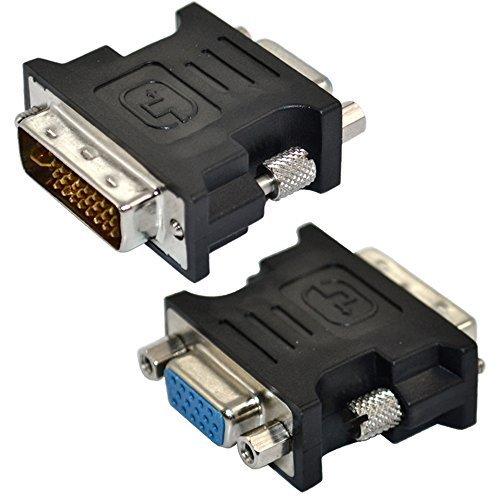 DVI-I 24+5 pin macho a SVGA VGA hembra 15 pin adaptador convertidor de tarjeta de vídeo