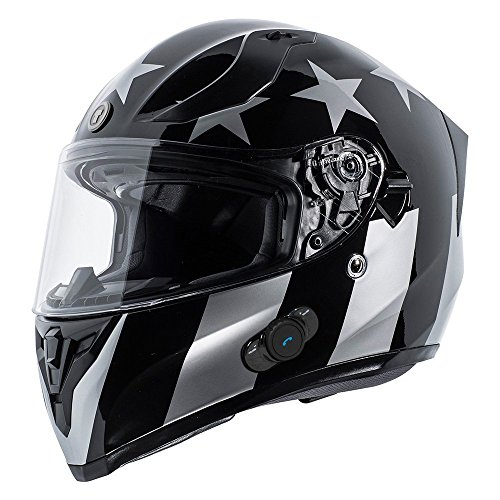TORC T15B Bluetooth Integrated Full Face Motorcycle Helmet With Graphic