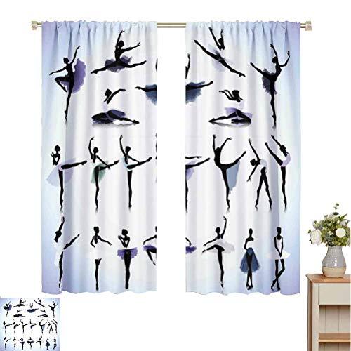 Toopeek Art - Cortina aislada para bailarinas de ballet y bailarinas escénicas, diseño de ilustración para...