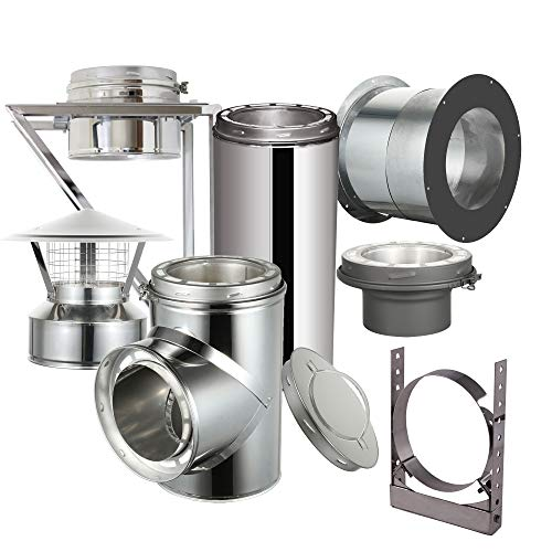 Check Out This EcoVent USA Through The Wall Installation Kit for 6 Diameter 304 Stainless Steel Cla...