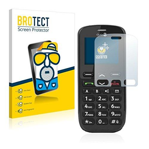 2X BROTECT Matt Bildschirmschutz Schutzfolie für Doro PhoneEasy 508 (matt - entspiegelt, Kratzfest, schmutzabweisend)