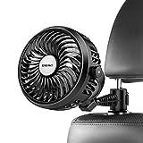 Auto Ventilator, USB Kfz Lüfter mit 3 Geschwindigkeiten 360 Grad Drehung Lüfter an Kopfstütze des...