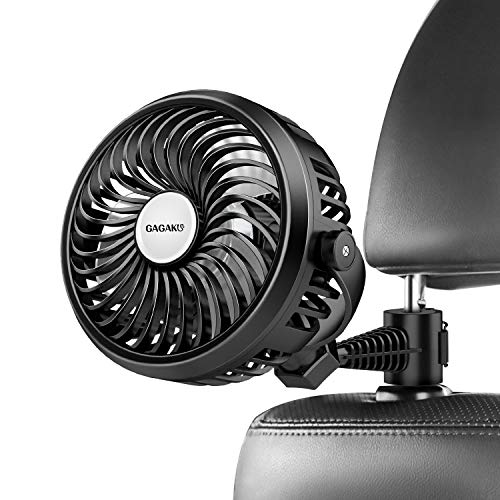 Car Fan for Headrest Back Seat with 360 Degree Rotation Clip Rechargeable USB Fan for Auto SUV RV Vehicle
