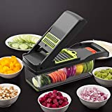 7 in 1 Vegetable Choppers|Slicer|Cutter|Grater|Dicer, Mandolin Slicer Multifunctional Adjustable Manual Julienne Slicer