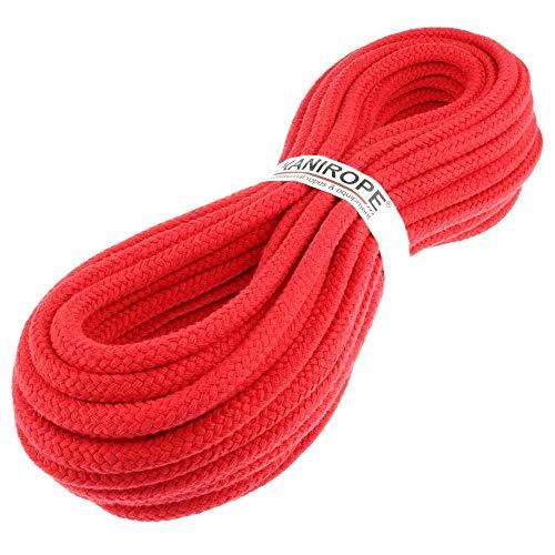 Kanirope® Baumwollseil COBRAID 9mm 10m geflochten Farbe Rot