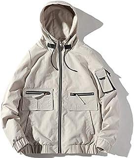 HAWEEL Trend Top Hooded Loose Coat Casual Jacket for Men Windbreaker Jacket