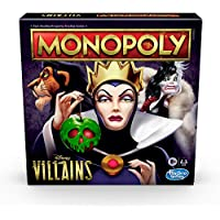 Monopoly: Disney Villains Edition Board Game for Kids Ages 8 and Up