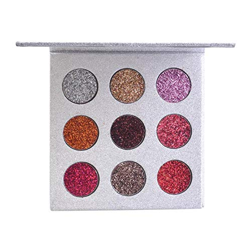 Wovemster 9 Farben Lidschatten Palette Diamond Powder Super Glitter High-End Frauen Beauty Eye...