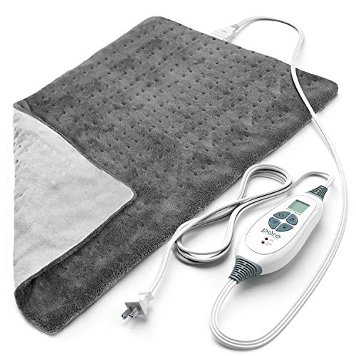 Pure Enrichment PureRelief XL (12'x24') Electric Heating Pad for Back Pain and...