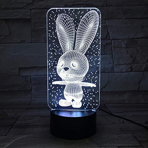 Lapin Mignon Lapin bébé Chambre Lampe Nuit lumière Dessin animé en Plastique Sommeil Enfants Ampoule Nuit lumière a Un Changement de Couleur