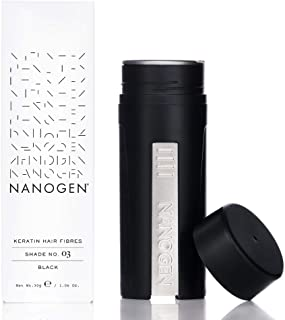 Nanogen Keratin Hair Fibers, 30-grams, Black