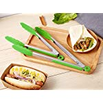 HiramWare Kitchen Tongs (Green) 14