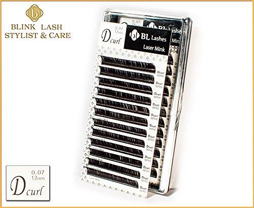 BL Lashes Laser visone ciglia finte per l'estensione ciglia D curl- grossezza 0,07 mm in lunghezza, 12 mm. NUOVO DESIGN da Blink Lash Stylist !!!