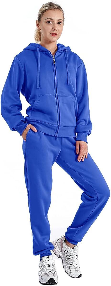 LeeHanTon Sherpa 新生活 Zipper Womens Fleece Sweatsuits Active 買取 Jogging