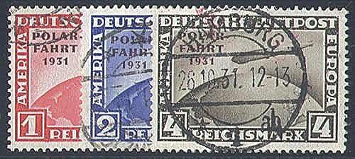 Goldhahn Deutsches Reich Nr. 456-458 gestempelt Polarfahrt 1931 Briefmarken für Sammler