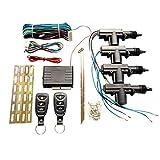 WOIA Entrada sin Llave con Sistema de Motor Altavoz Externo Control Remoto Bloqueo centralizado, Negro