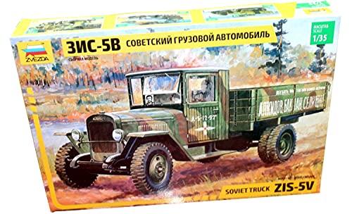 ズベズダ 1/35 ZIS-5B ソビエト輸送トラック プラモデル