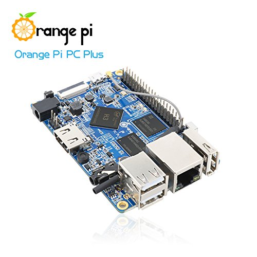 Orange Pi PC Plus Single Board Computer - Quad Core 1.3GHz ARMv7 1GB DDR3 8GB eMMC Storage