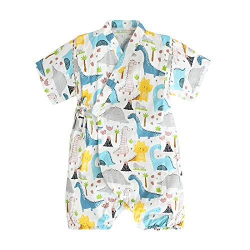 Baby Kimono Bademantel / Strampler aus Bio-Baumwolle, weicher japanischer Schlafanzug Gr. 3-9 Monate, 49